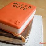 Bücher-Torte zum Berufseinstand (2013)