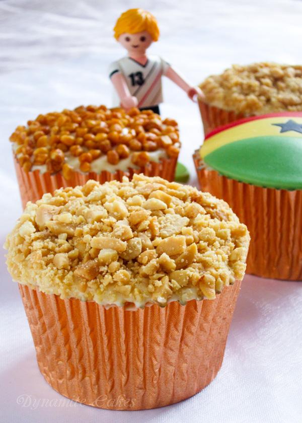 Bananen Cupcakes Erdnusscreme