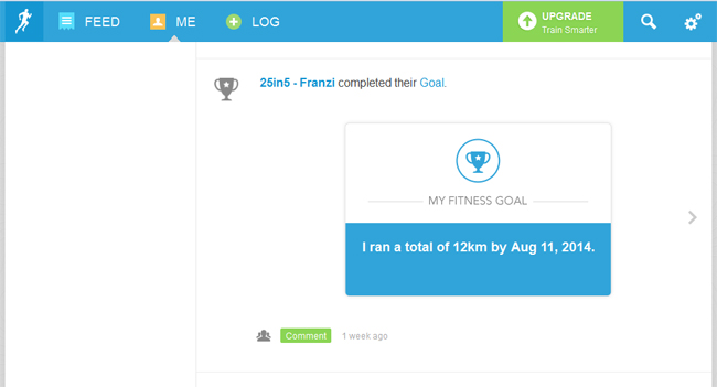 Screenshot: Challenge erfolgreich beendet
