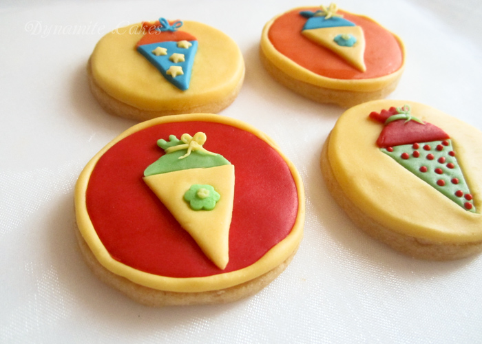Kekse zur Einschulung schnell gemacht mit Fondant