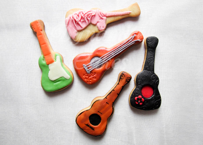 Gitarre-Ukulele-Kekse