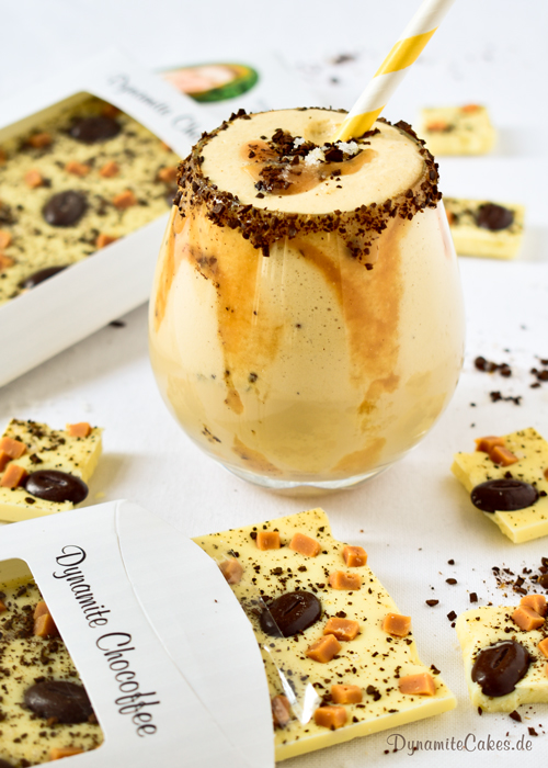 Eiskaffee mit Salted Caramel von DynamiteCakes.de