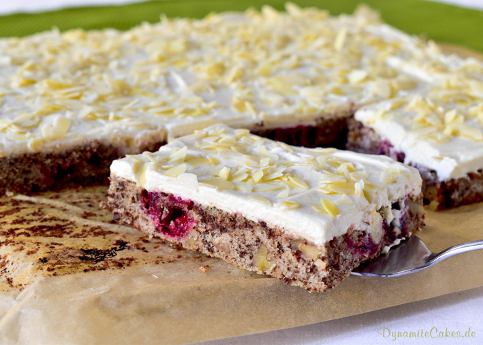 Cranberrykuchen mit Mascarpone-Quarkcreme auf DynamiteCakes.de