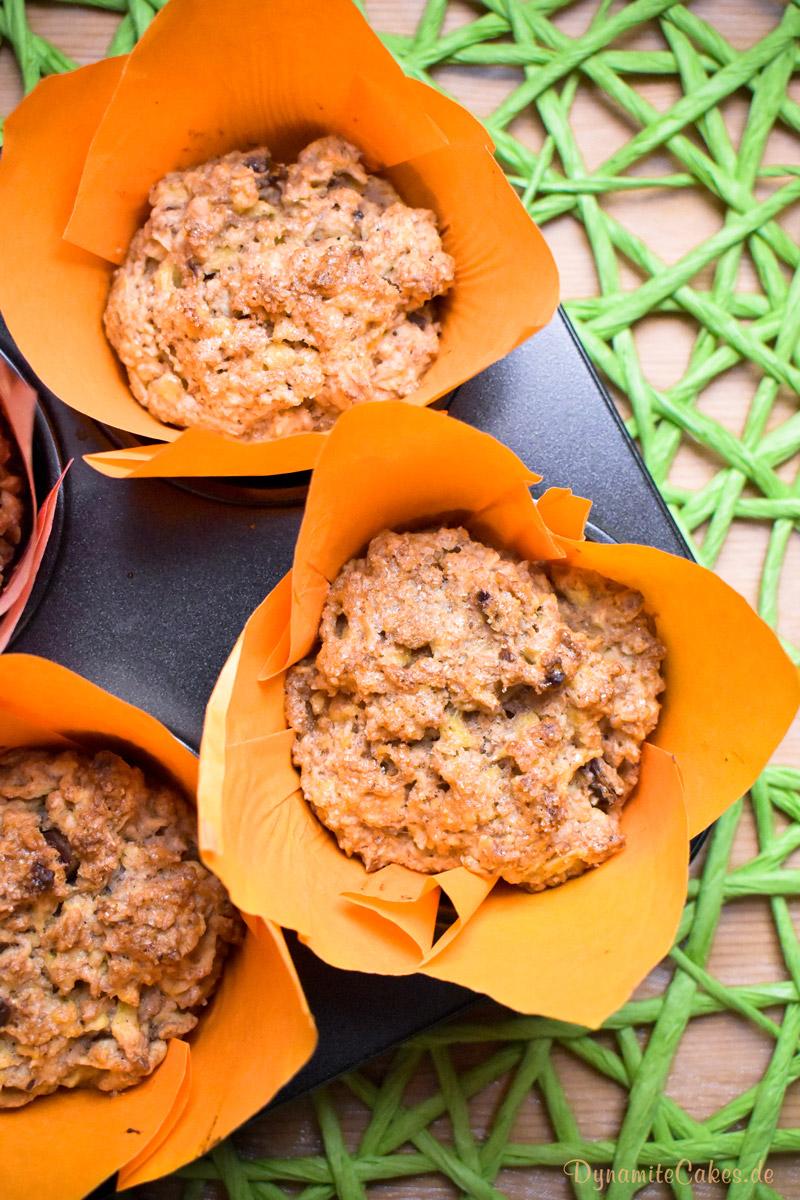 Vegane Apfelmuffins ohne Soja auf DynamiteCakes.de