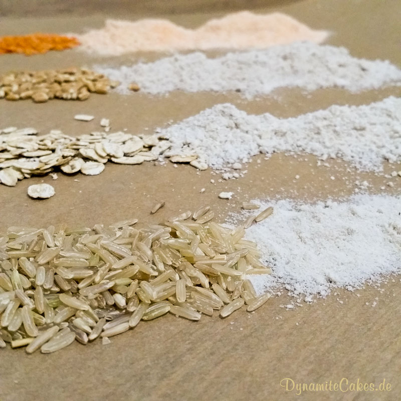 Mockmill 200 gemahlener Reis auf DynamiteCakes.de